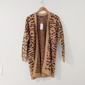 NWT Splendid Long Leopard Cardigan